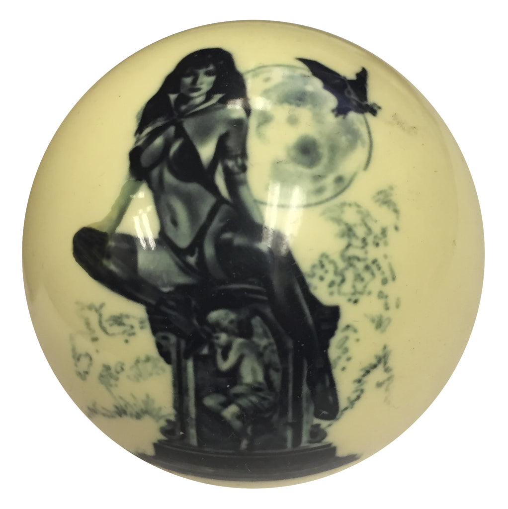 Tombstone Girl Pin-Up Custom Cue Ball