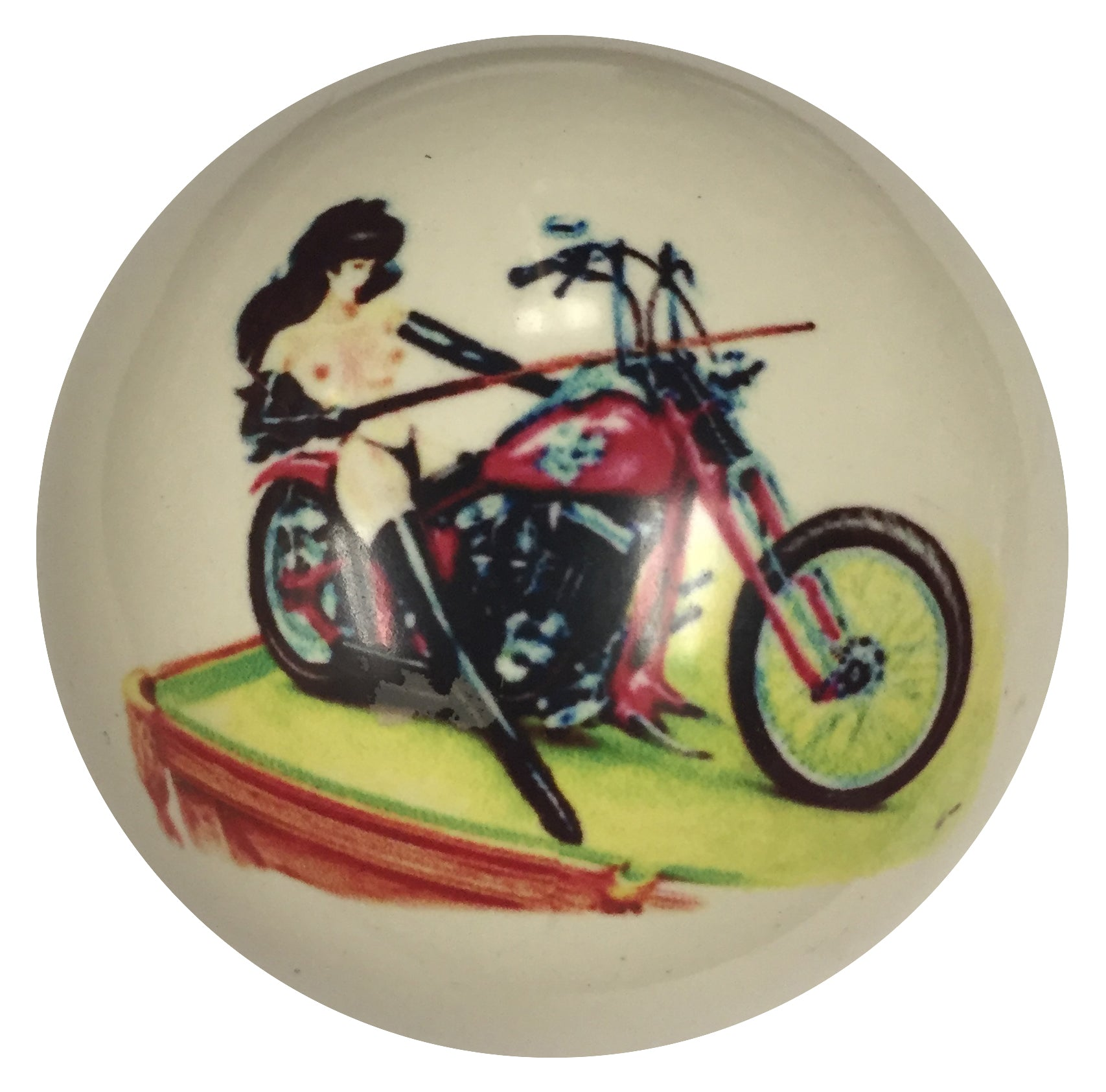 Pin-Up Girl with Table Designer Cue Ball for Pool Players Custom by D/&L Billiards