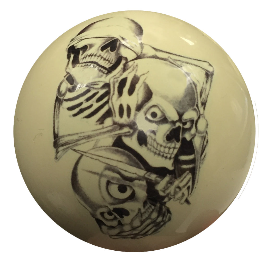 See Hear Speak No Evil Custom Cue Ball