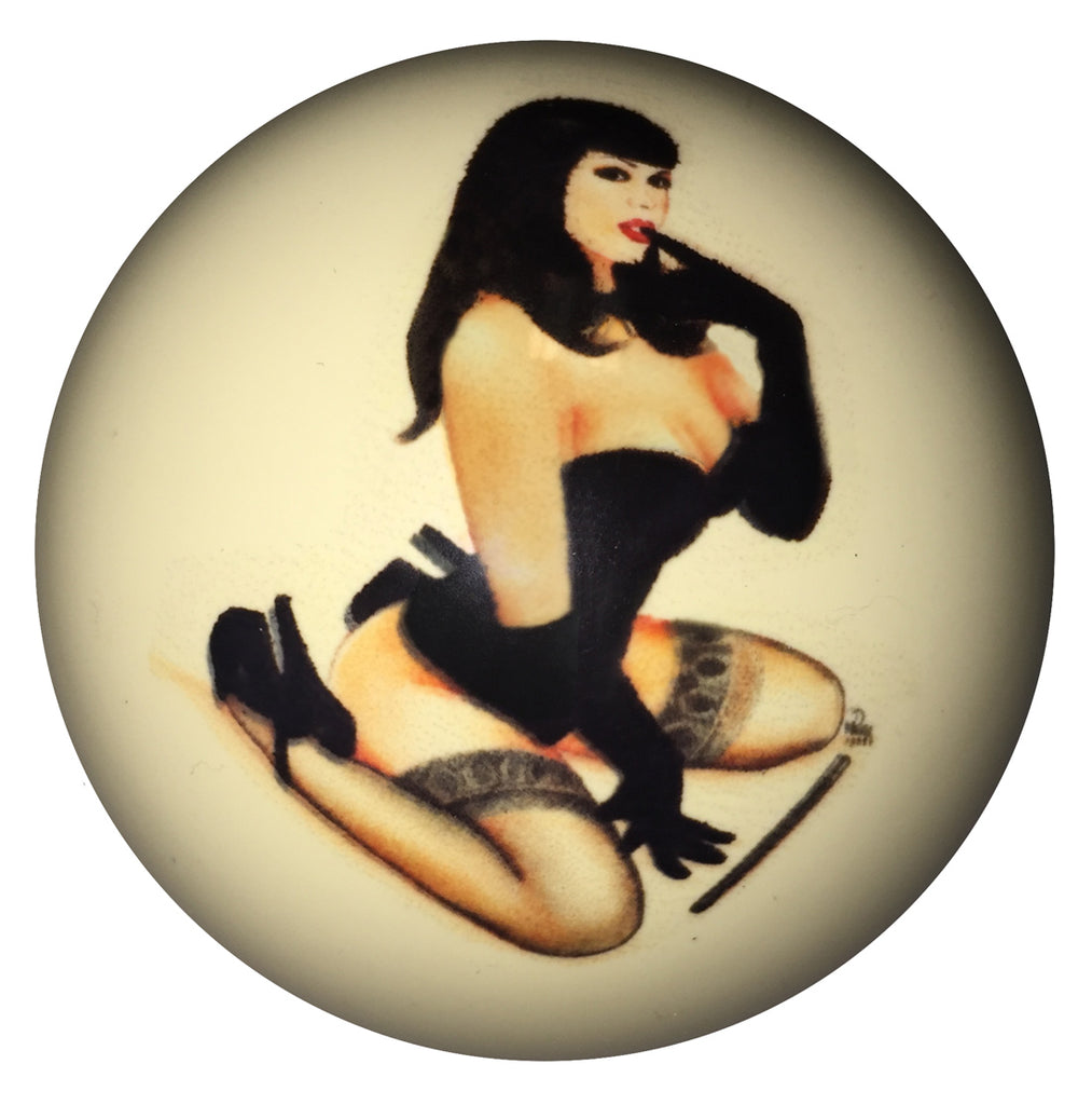 Corset Pin-Up Custom Cue Ball
