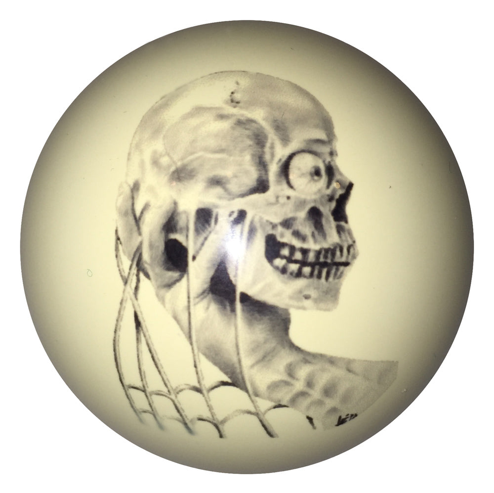 Skull in Hand Custom Cue Ball