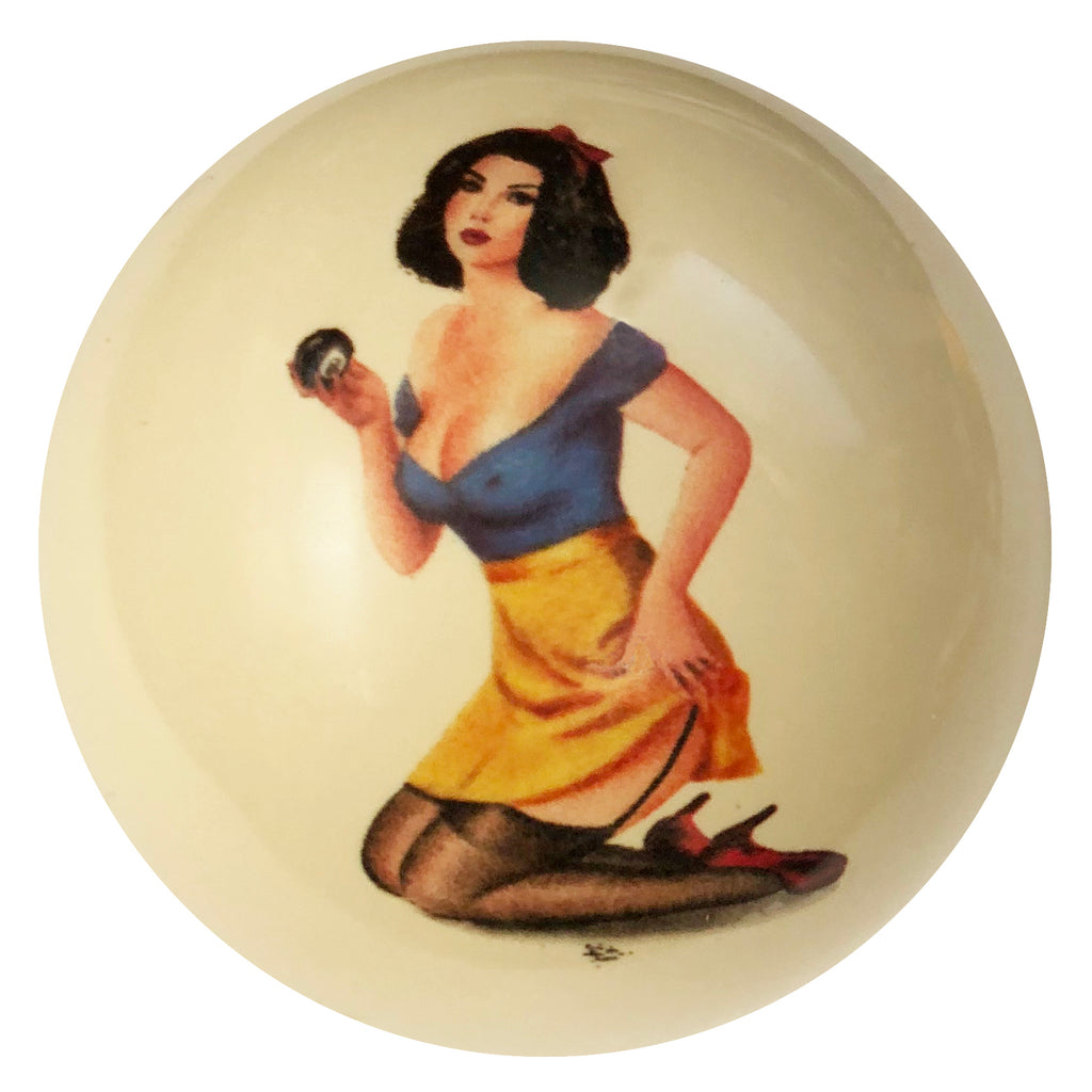 8 Ball Cindy Pin-Up Custom Cue Ball