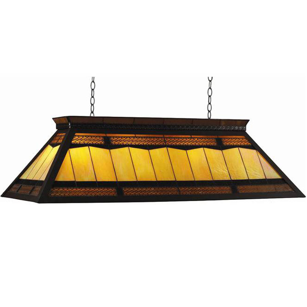 Stained Glass Rectangular Billiard Light