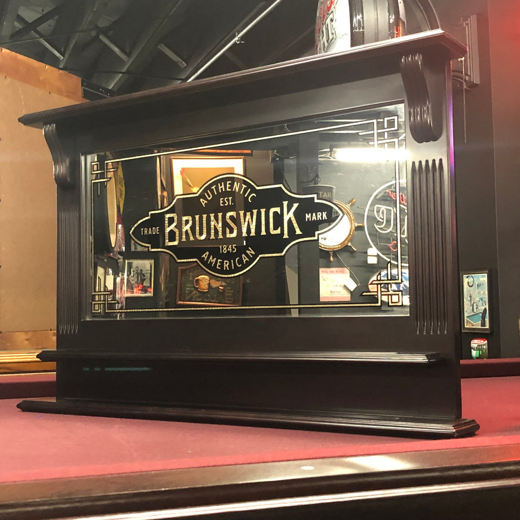 Brunswick Logo Bar Wall Mirror
