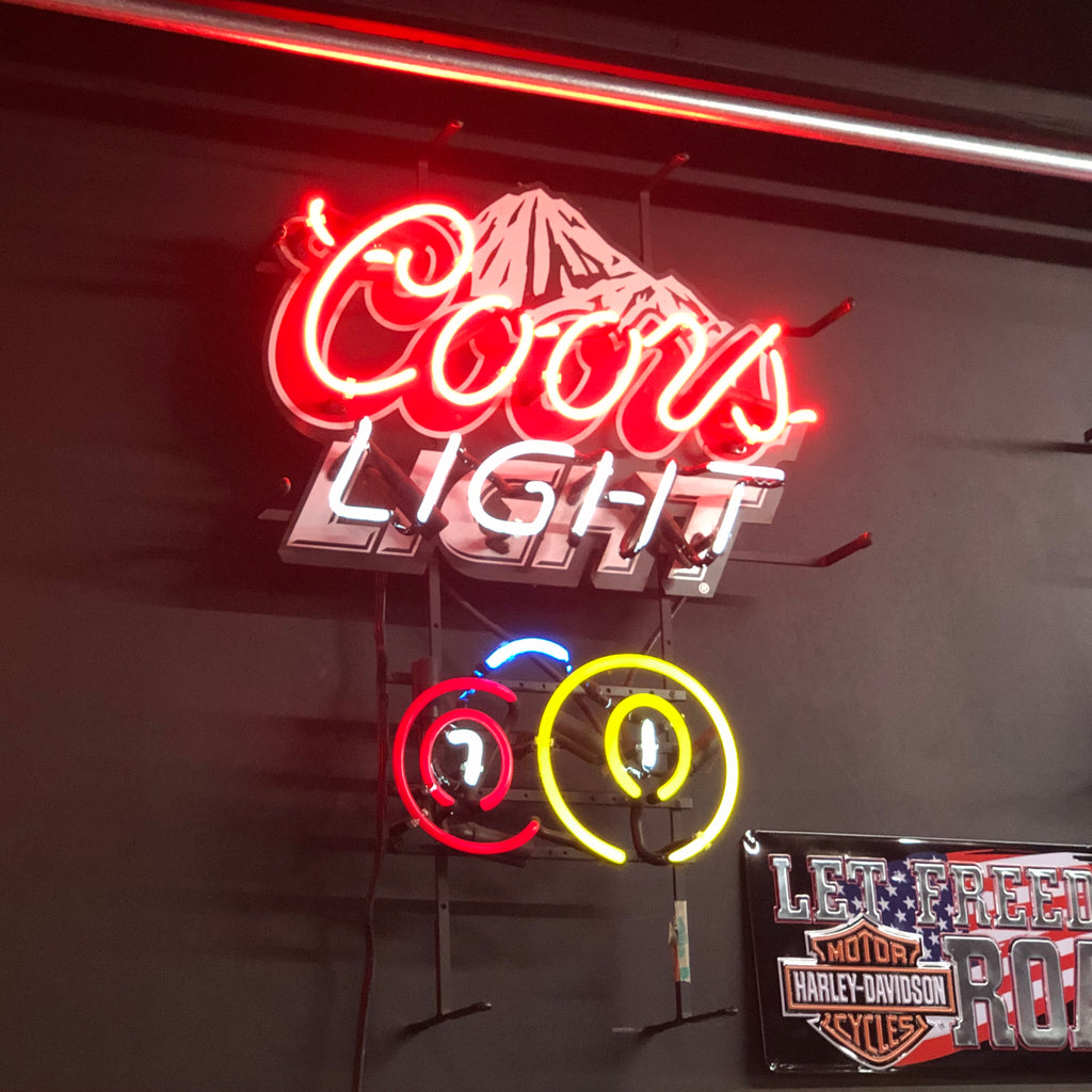 Coors Light Mountain Neon Light