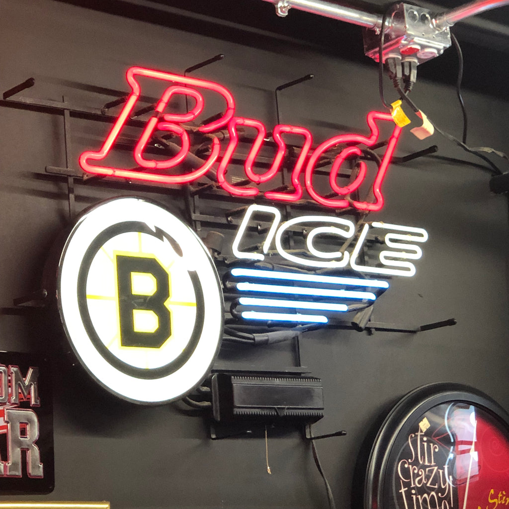 Bud Ice Bruins Neon Light