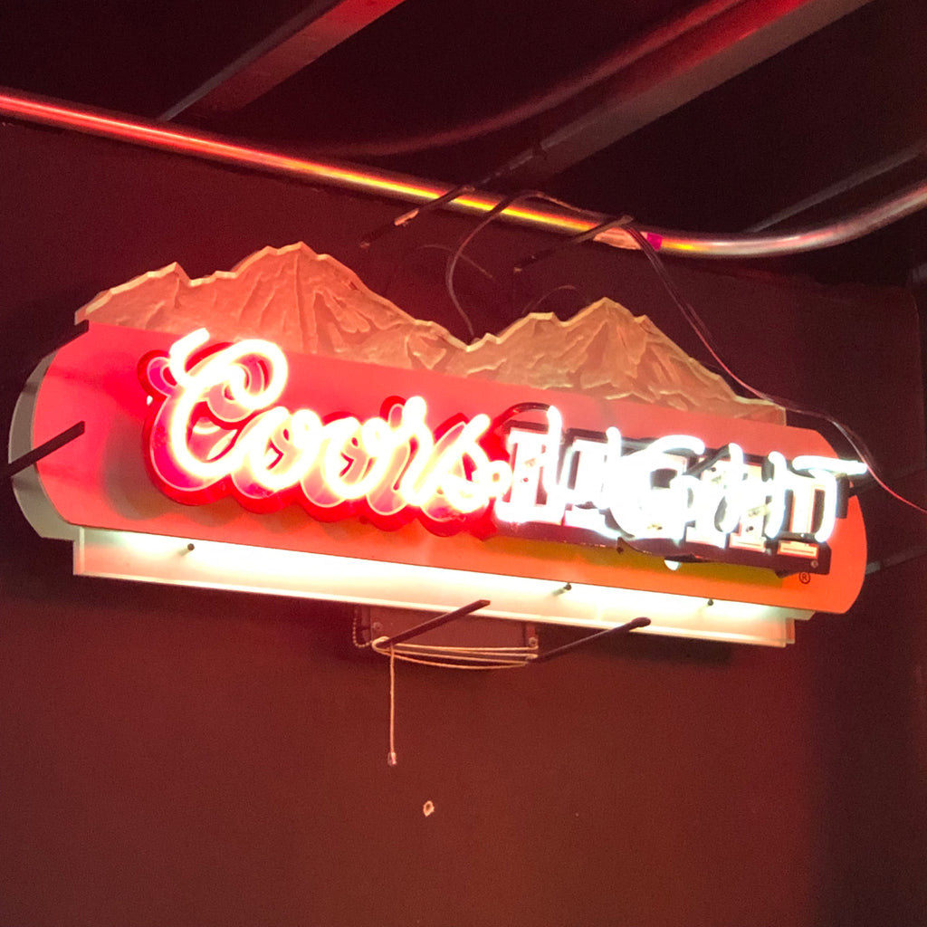 Coors Light Mountains Neon Light