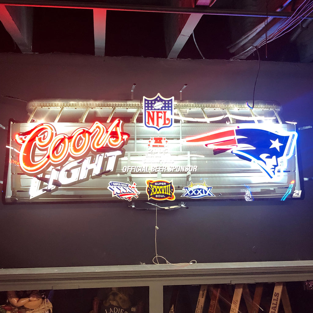 Coors Patriots NFL Neon Light