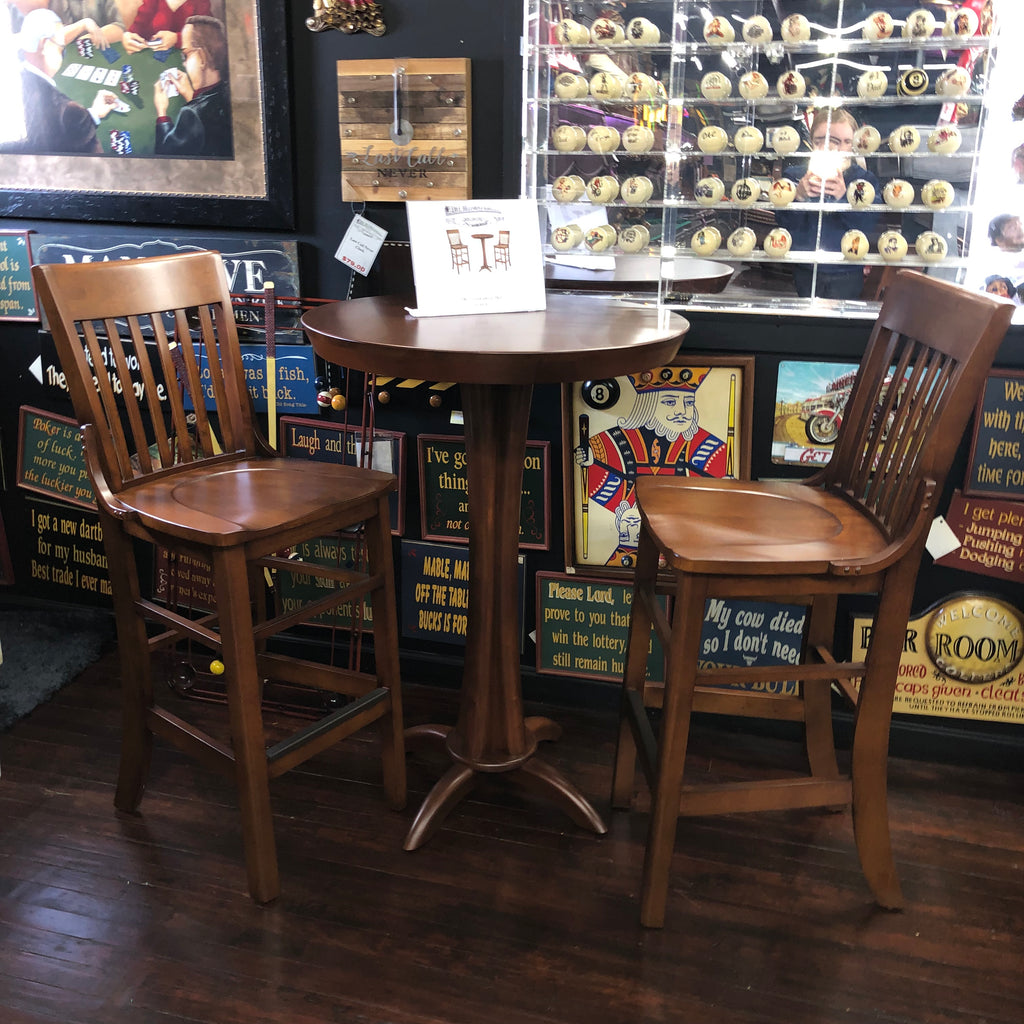 Brunswick Pub Table Special with Wood Barstools