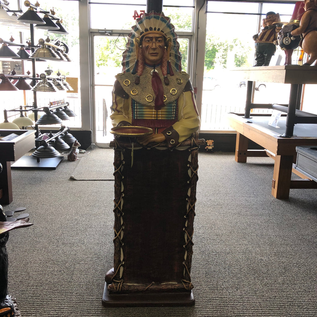 Indian Chief Menu Board Statue