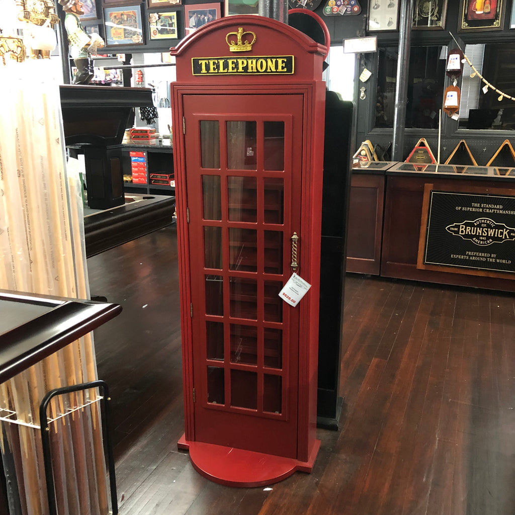 Telephone Booth Pool Cue Holder
