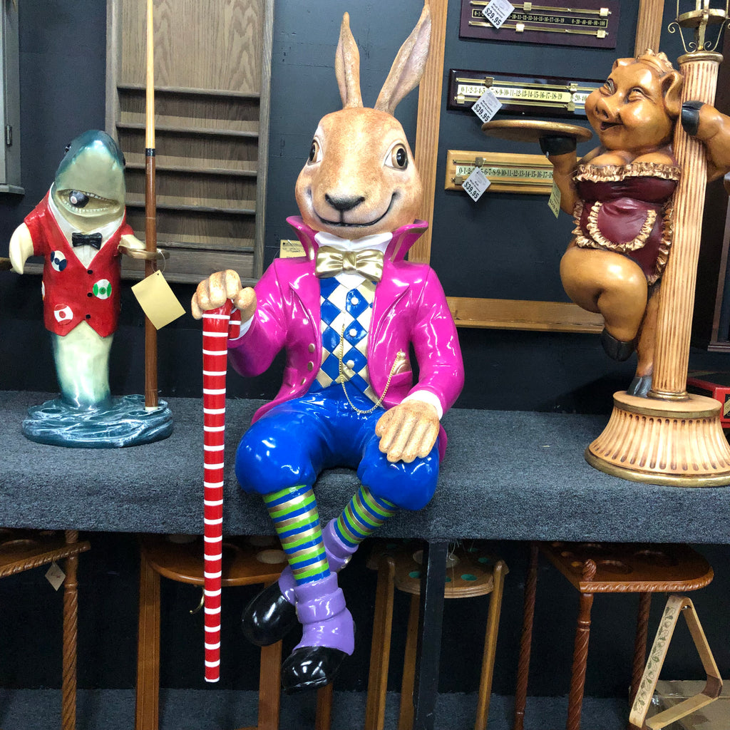 Jack the Rabbit Sitting Statue