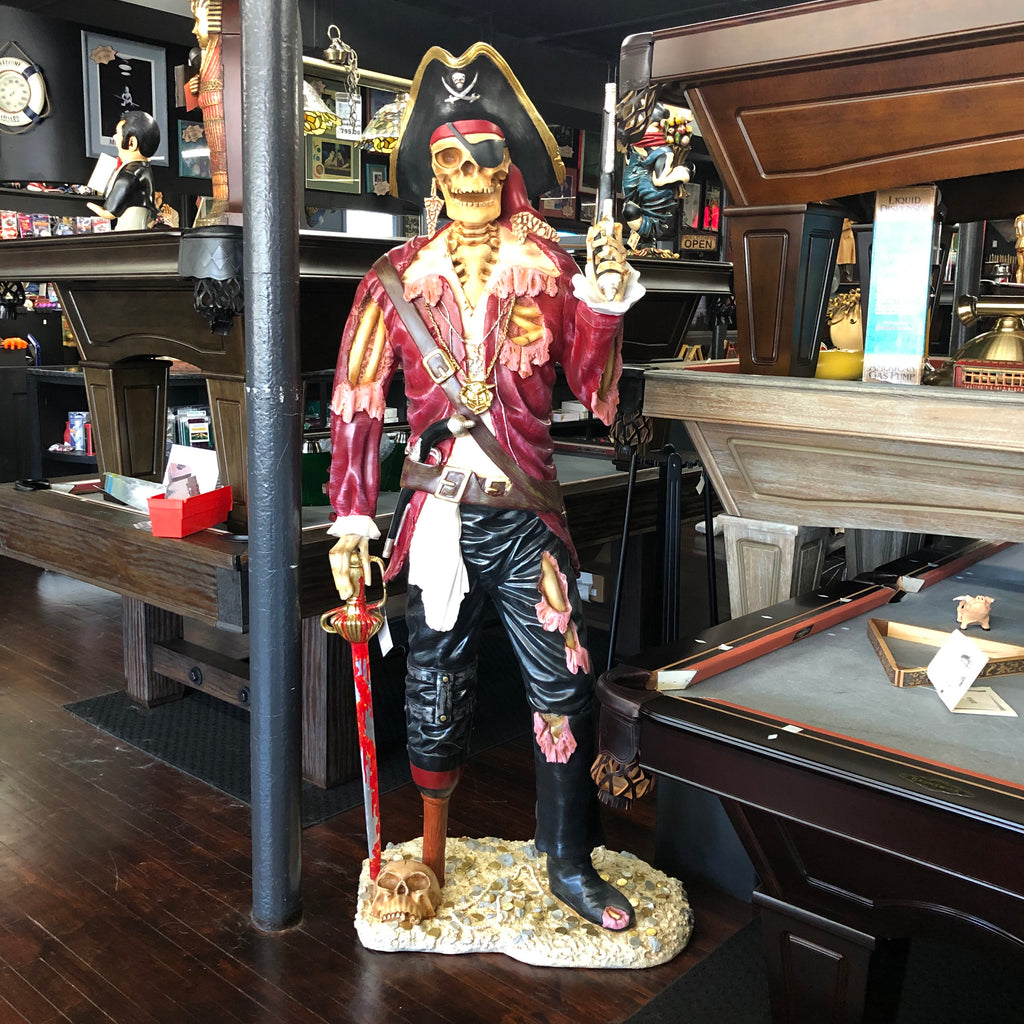 Skeleton Pirate Statue