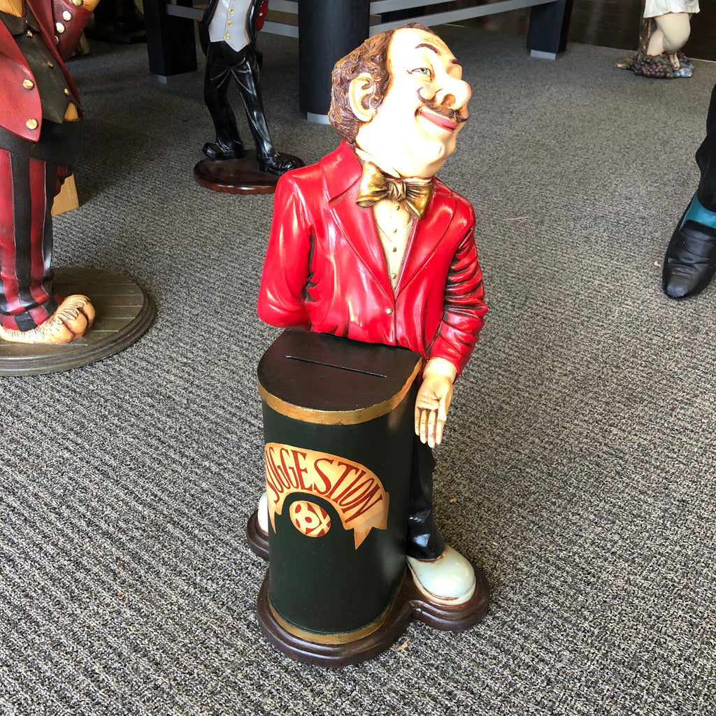 Suggestion Box Man Statue