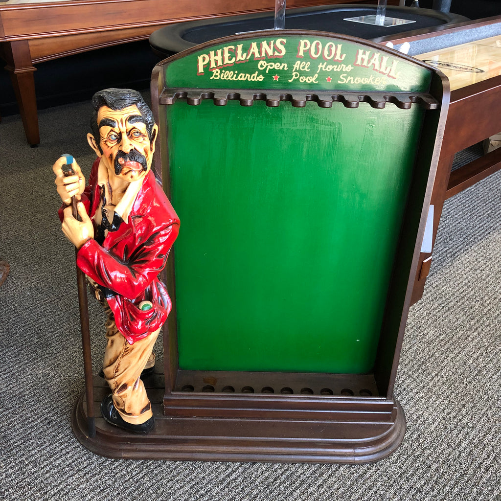 Pool Player Cue Rack Statue