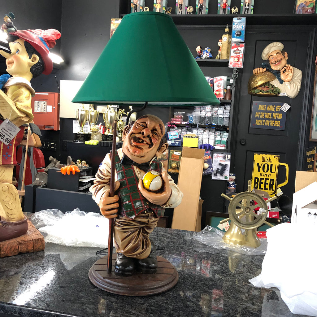 Pool Player Lamp Statue
