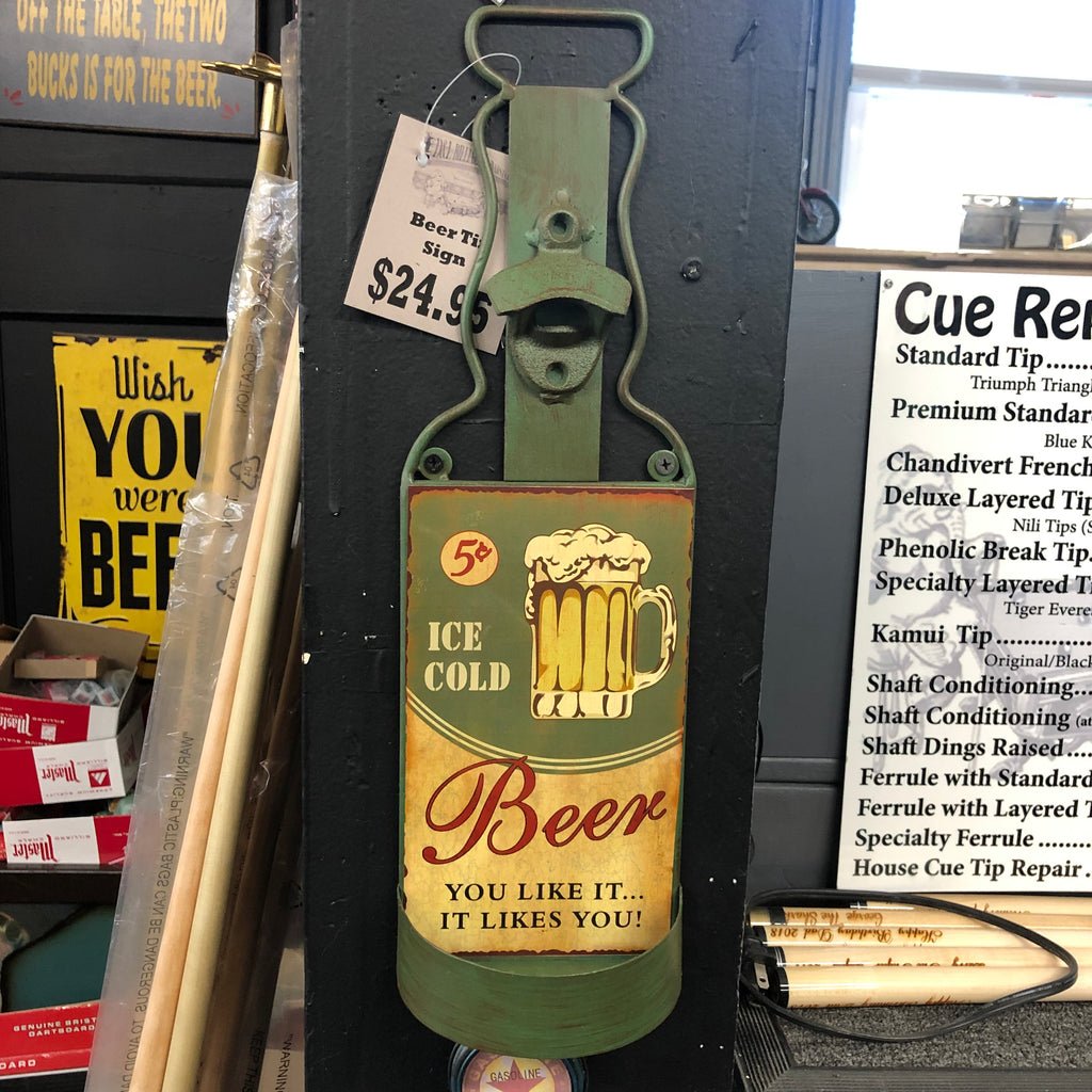 Bottle Opener Beer Tin Art
