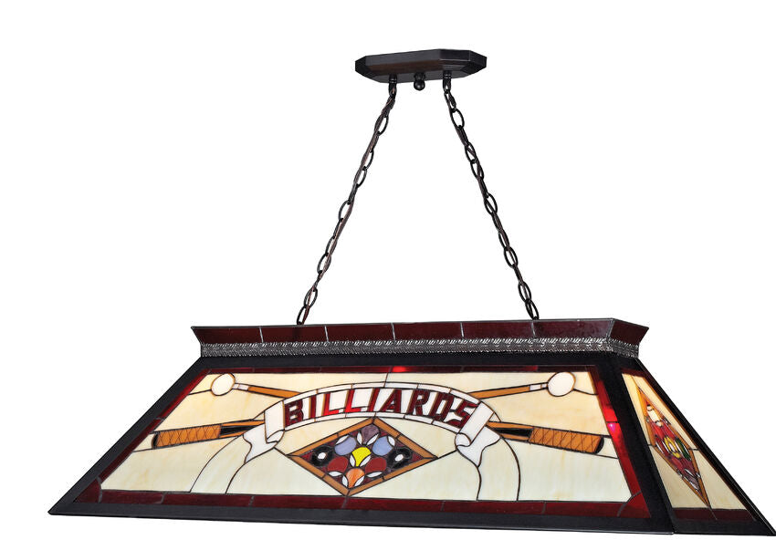 Stained Glass Red Billiards Light