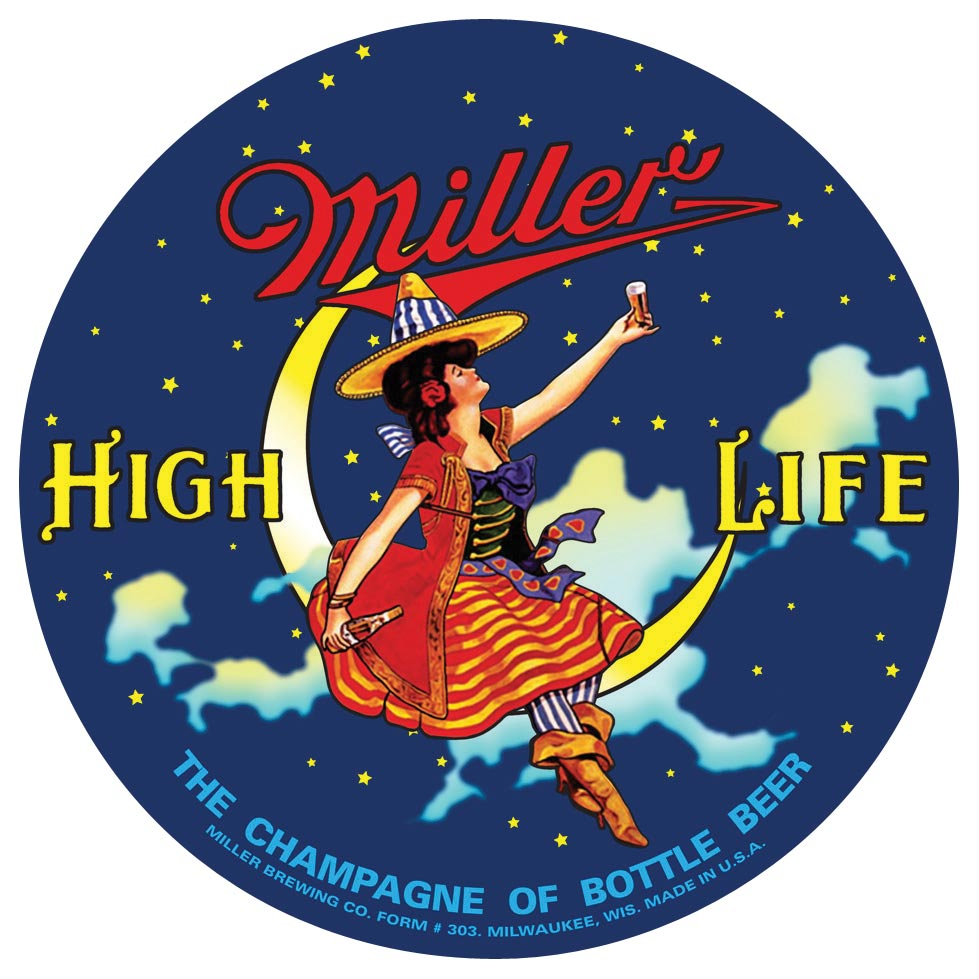 Miller High Life Aluminum Metal Wall Art