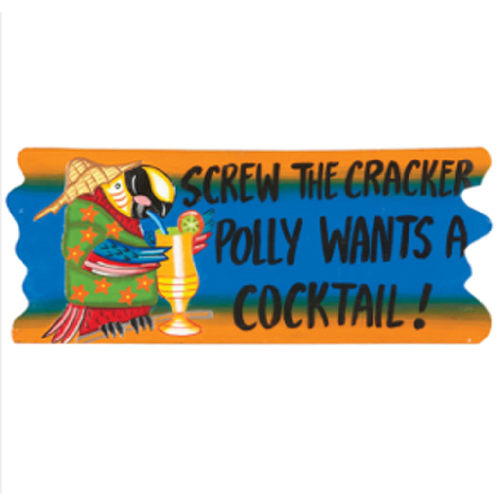 Polly Wants a Cocktail Wall Art