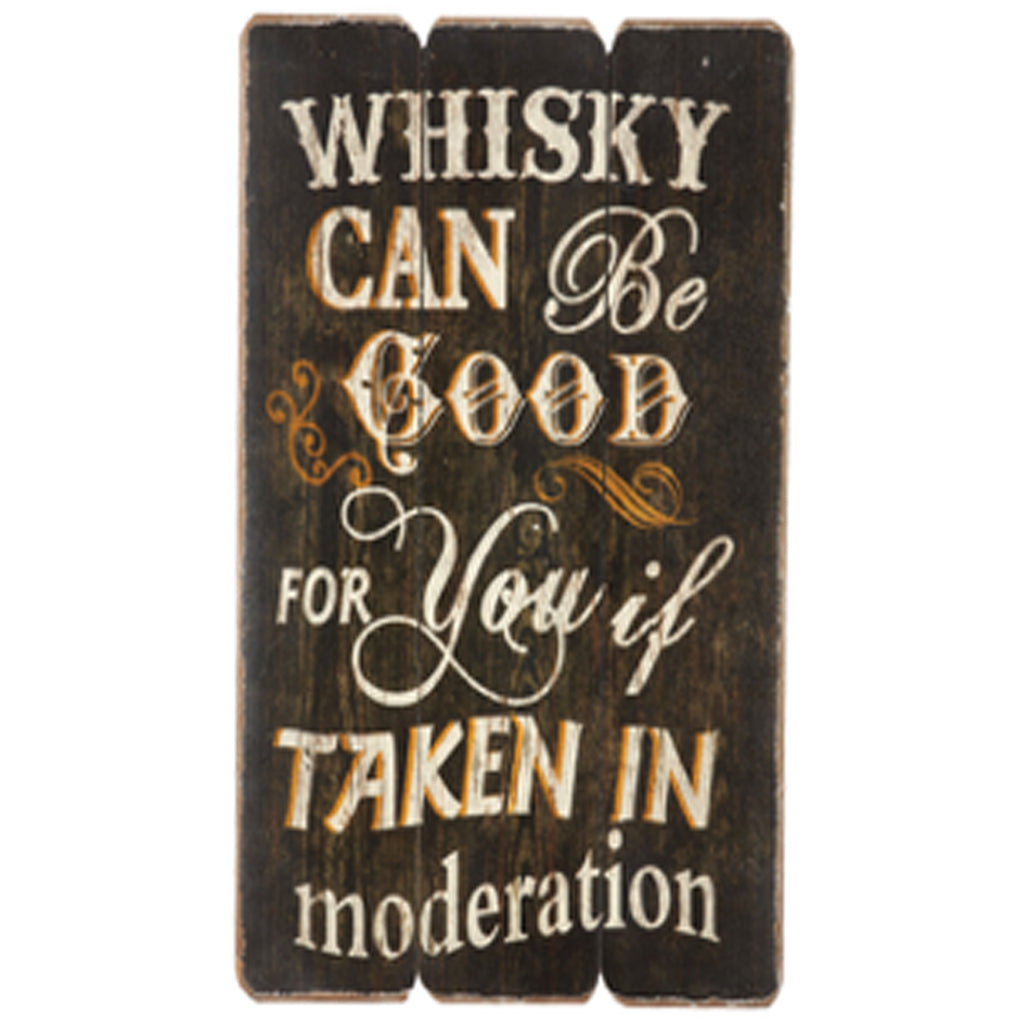 Whisky in Moderation Rustic Wall Art
