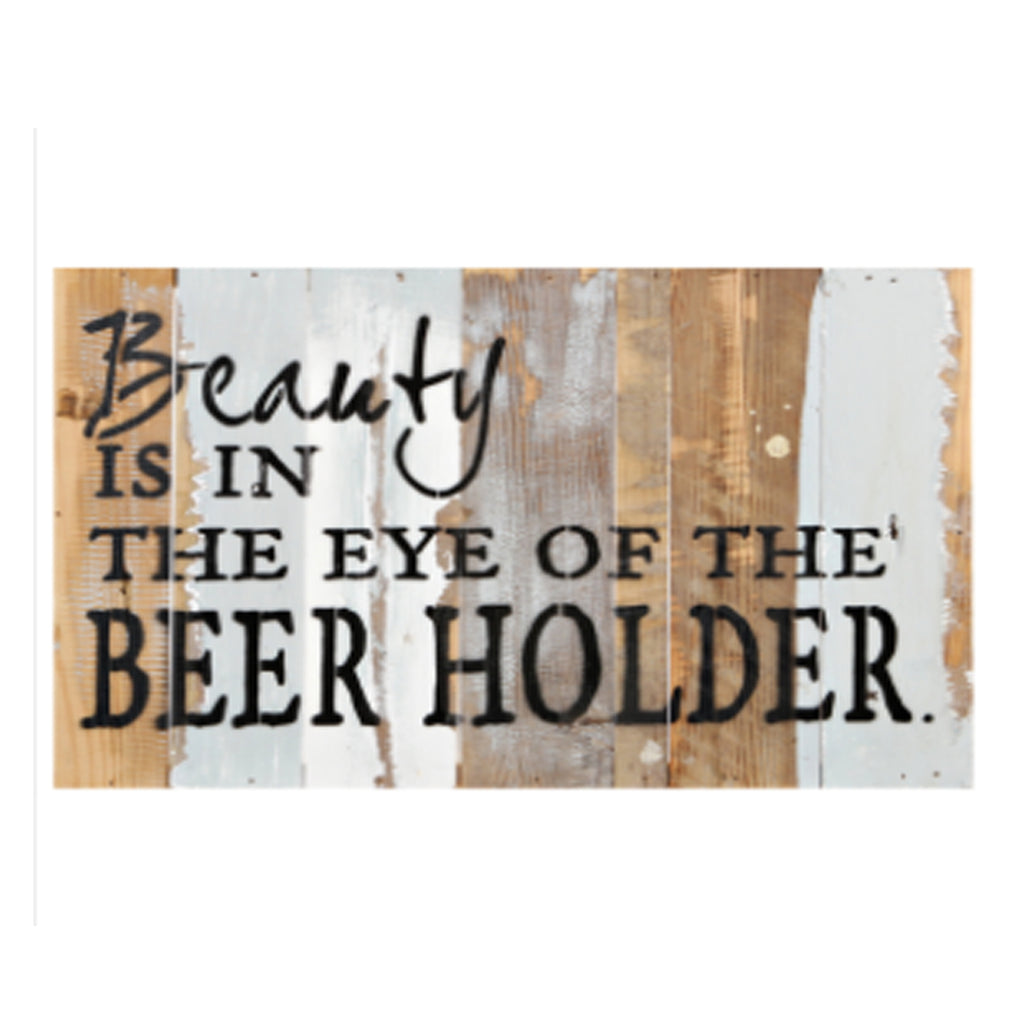 Eye of the Beer Holder Rustic Wall Art