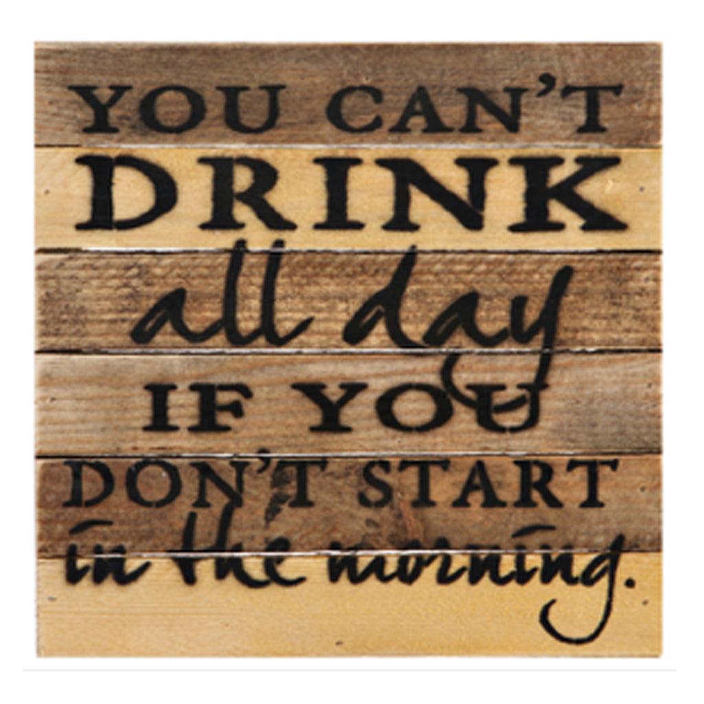Morning Drinking Rustic Wall Art