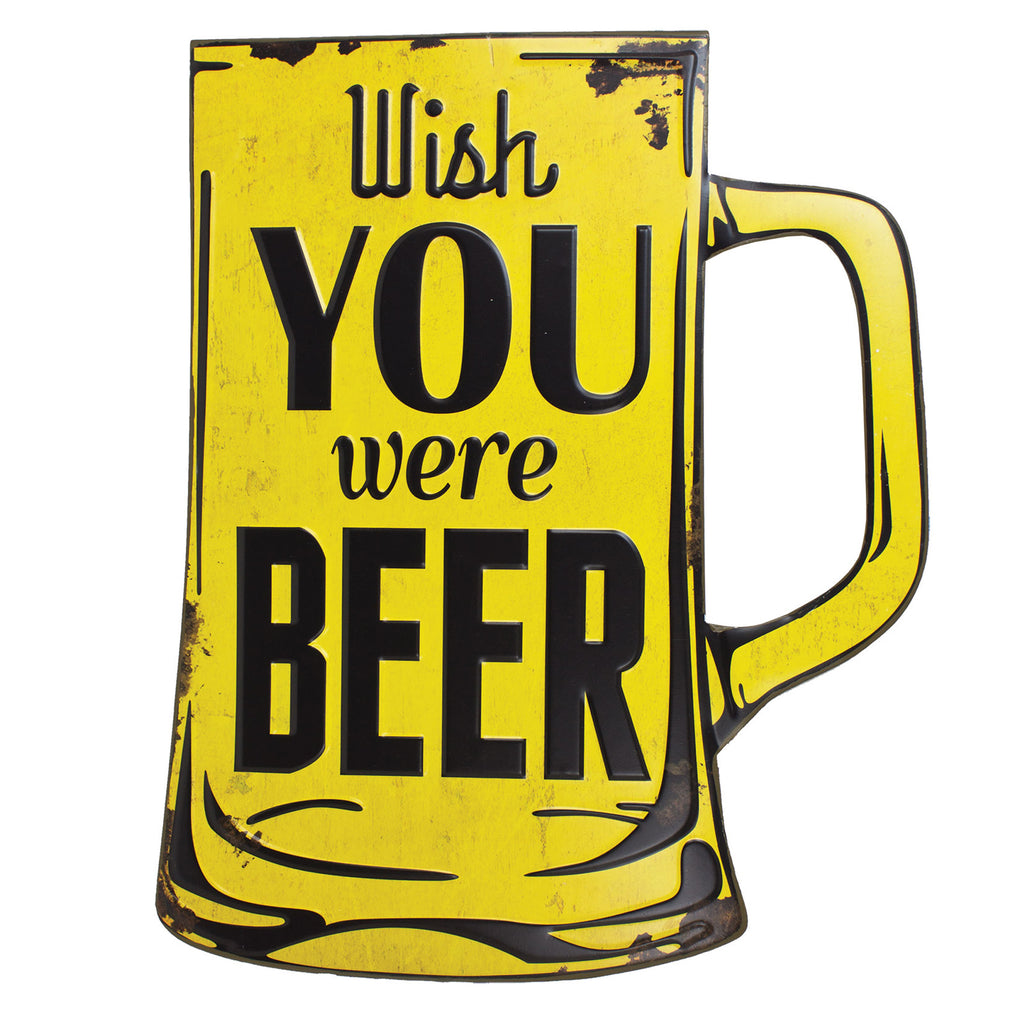 Wish You Were Beer Decorative Sign