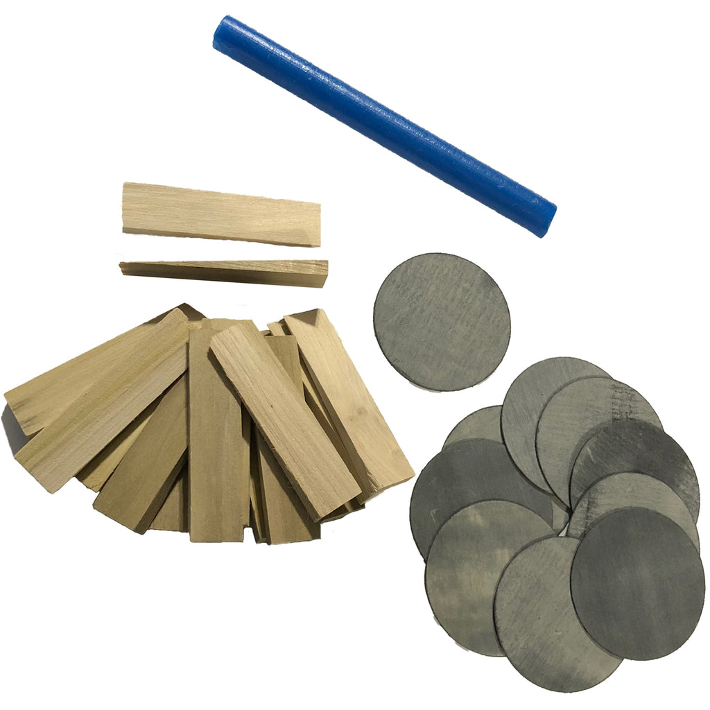 Pool Table Installation Shim and Wax Kit for Leveling and Install