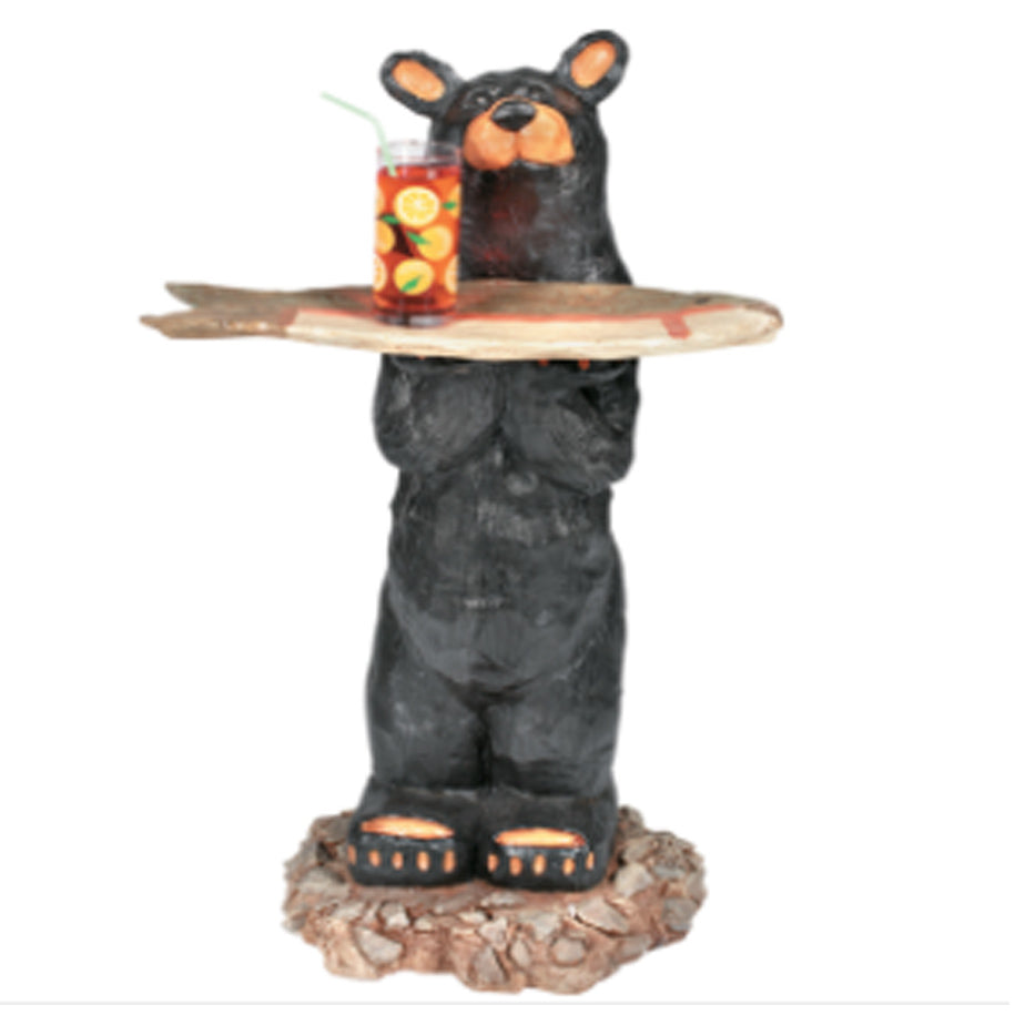 Bear Waiter Outdoor Statue