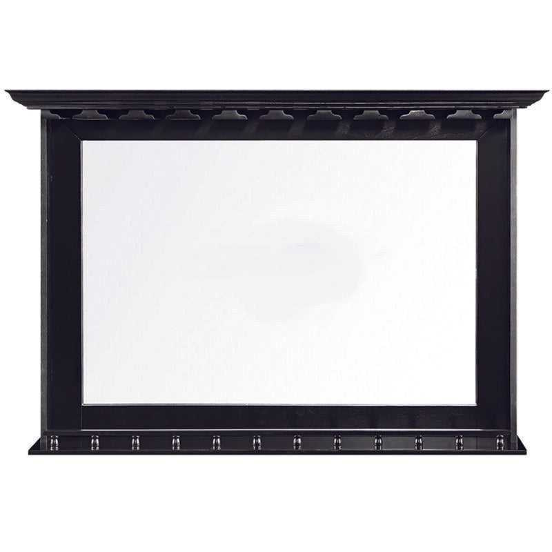 Bar Mirror with Glassware Rack