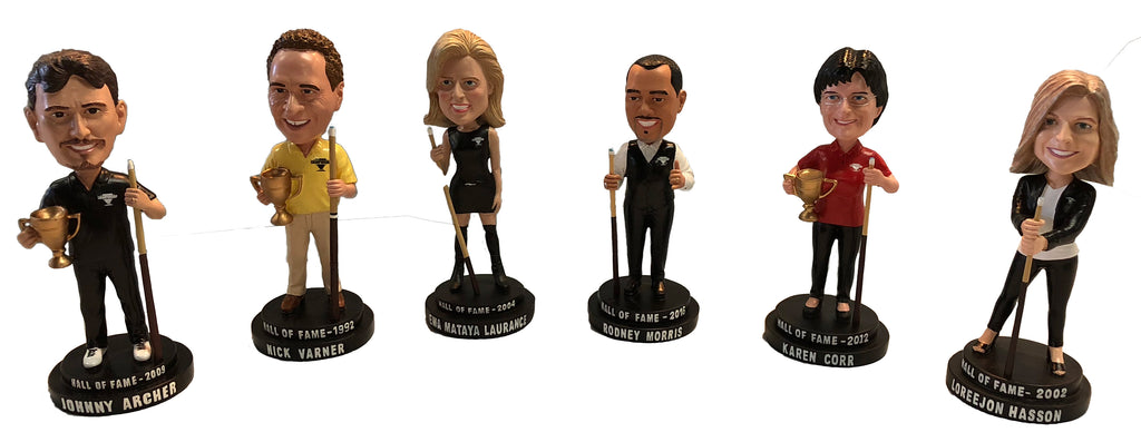 Bobblehead Pool Player Legends 6 Piece Collector Series #1-6 Set