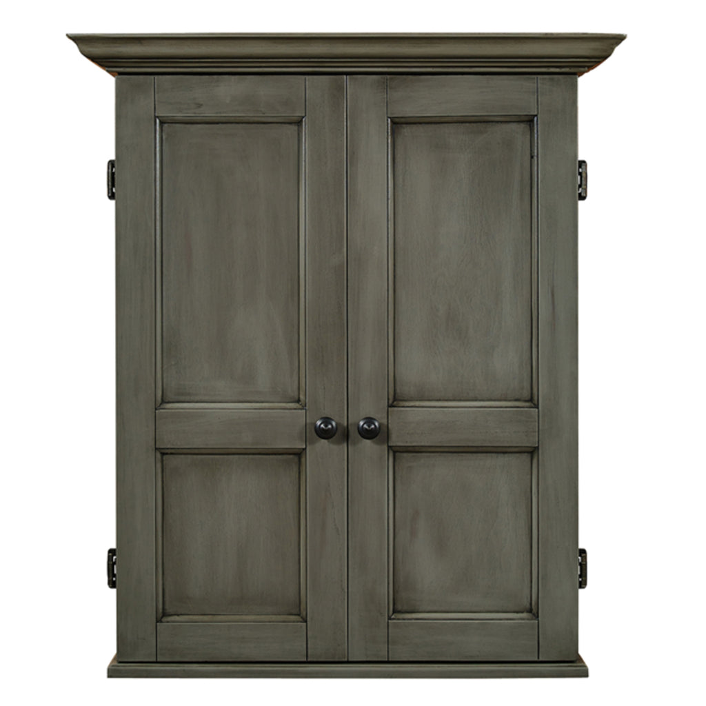 Grey Solid Wood Dart Board Cabinet