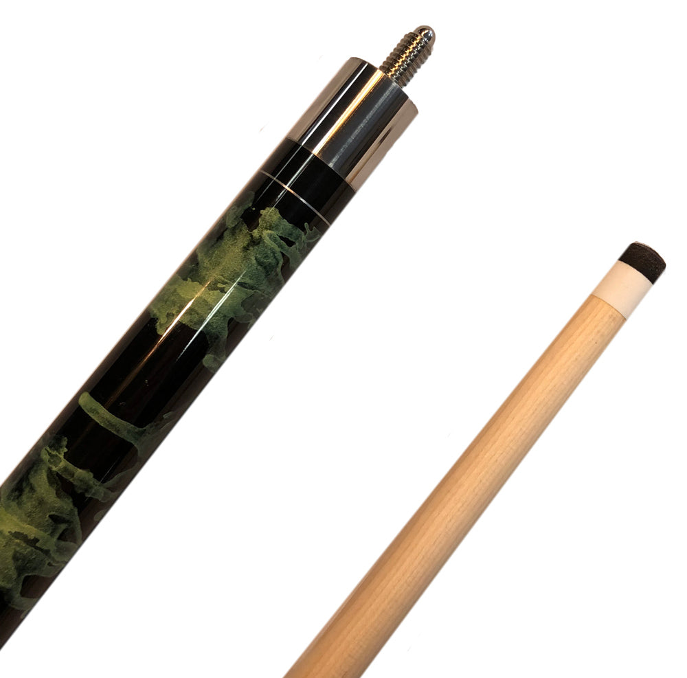 Alex Austin Green and Black Swirl Starter Series Cue