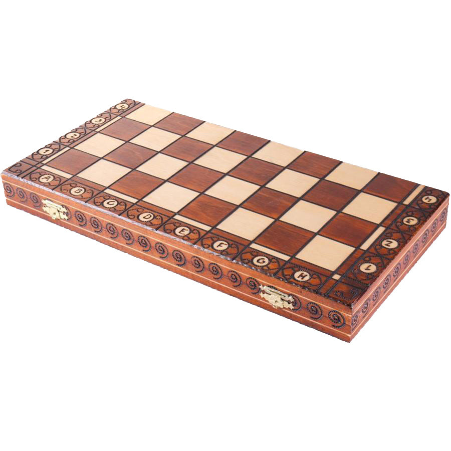 "19"" Wooden Chess Set"