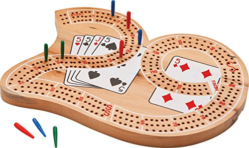 "Large ""29"" 3 Track Solid Wood Cribbage Board"