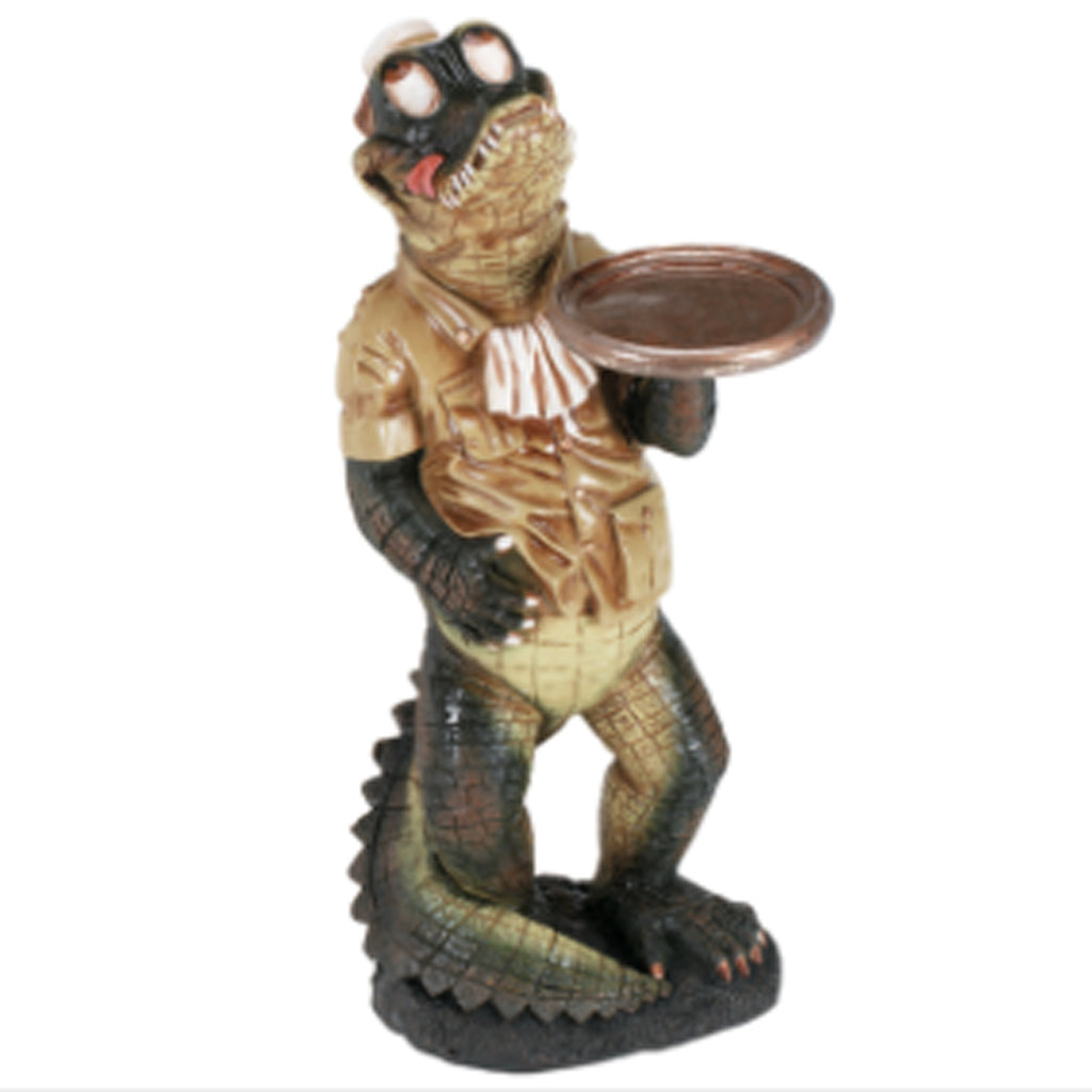 Crocodile Waiter Statue