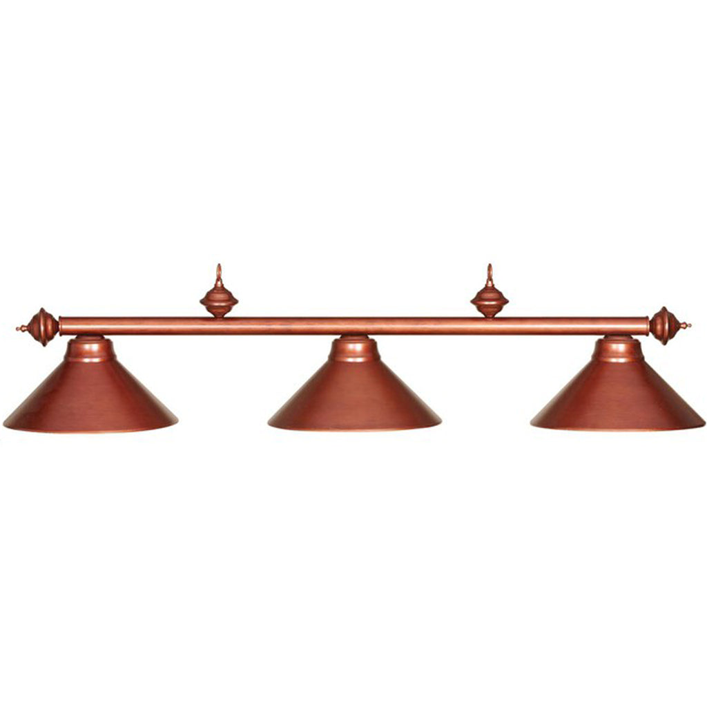 3 Shade Billiard Light with Copper Finish