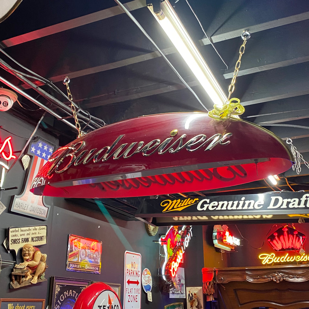 Used Budweiser Pool Table Light