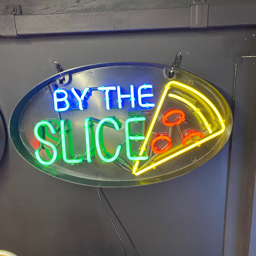 By The Slice Pizza Neon Light