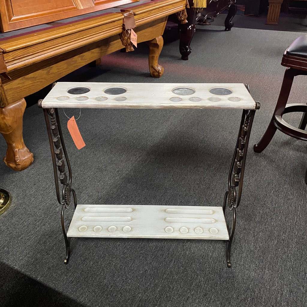 Pre-Owned Distressed White Floor Stand