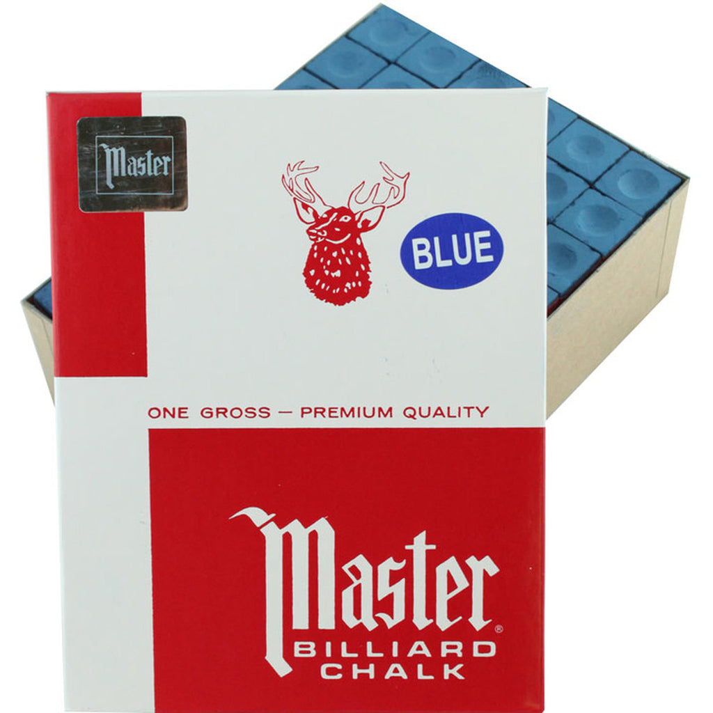 Master Blue Cue Chalk - 144 Pc Gross