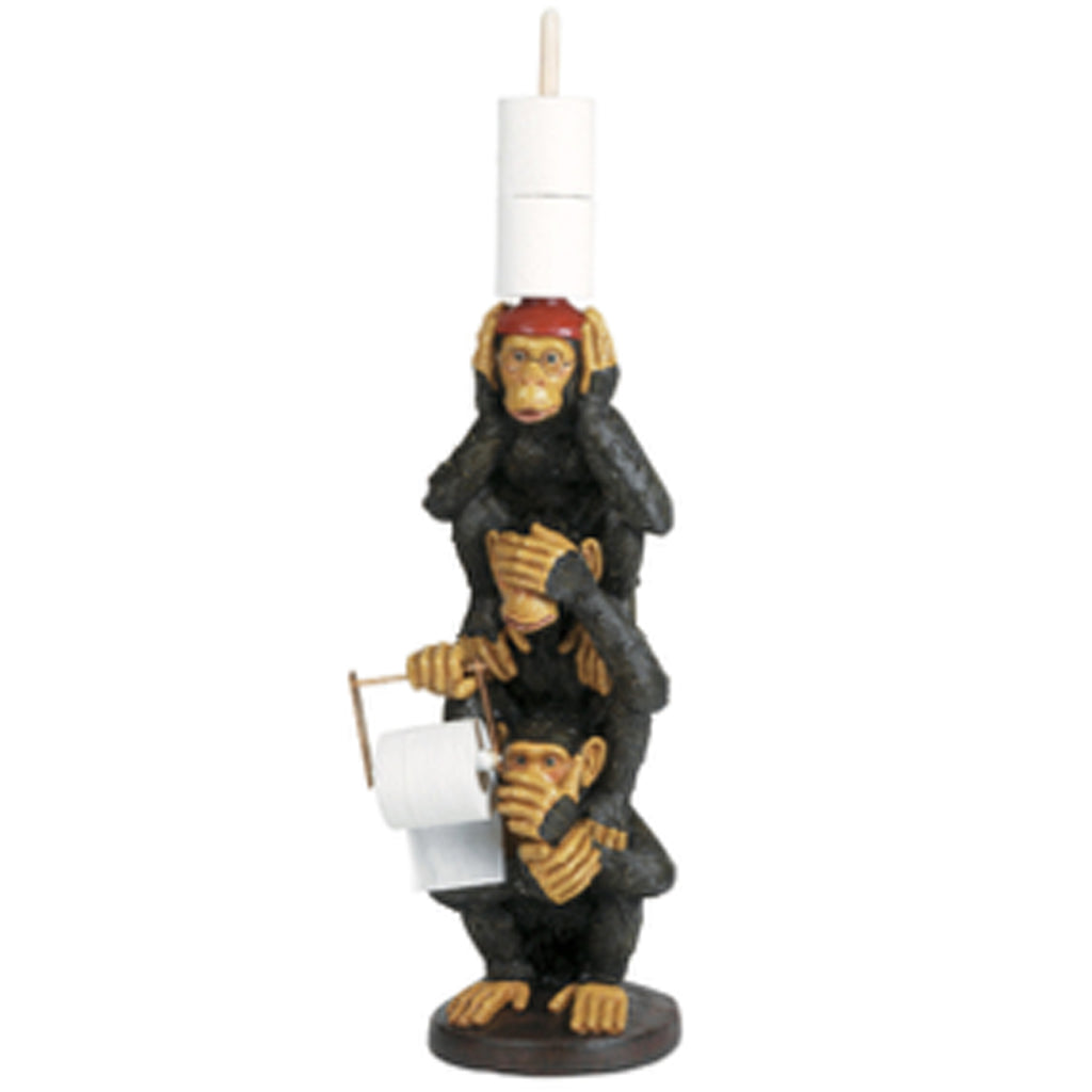 See Hear Speak Monkey Toilet Paper Holder