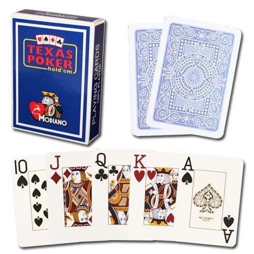 100% Plastic Jumbo Poker Playing Cards - Dark Blue