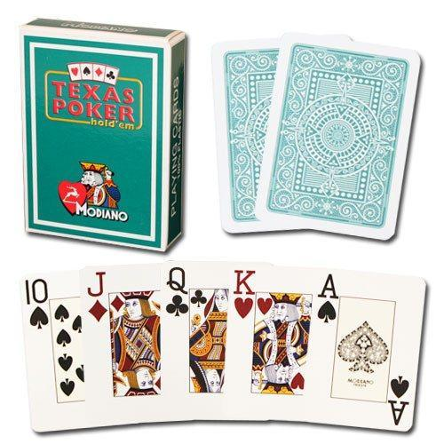 100% Plastic Jumbo Poker Playing Cards - Dark Green