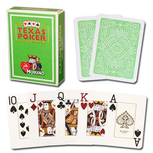 100% Plastic Jumbo Poker Playing Cards - Lime Green