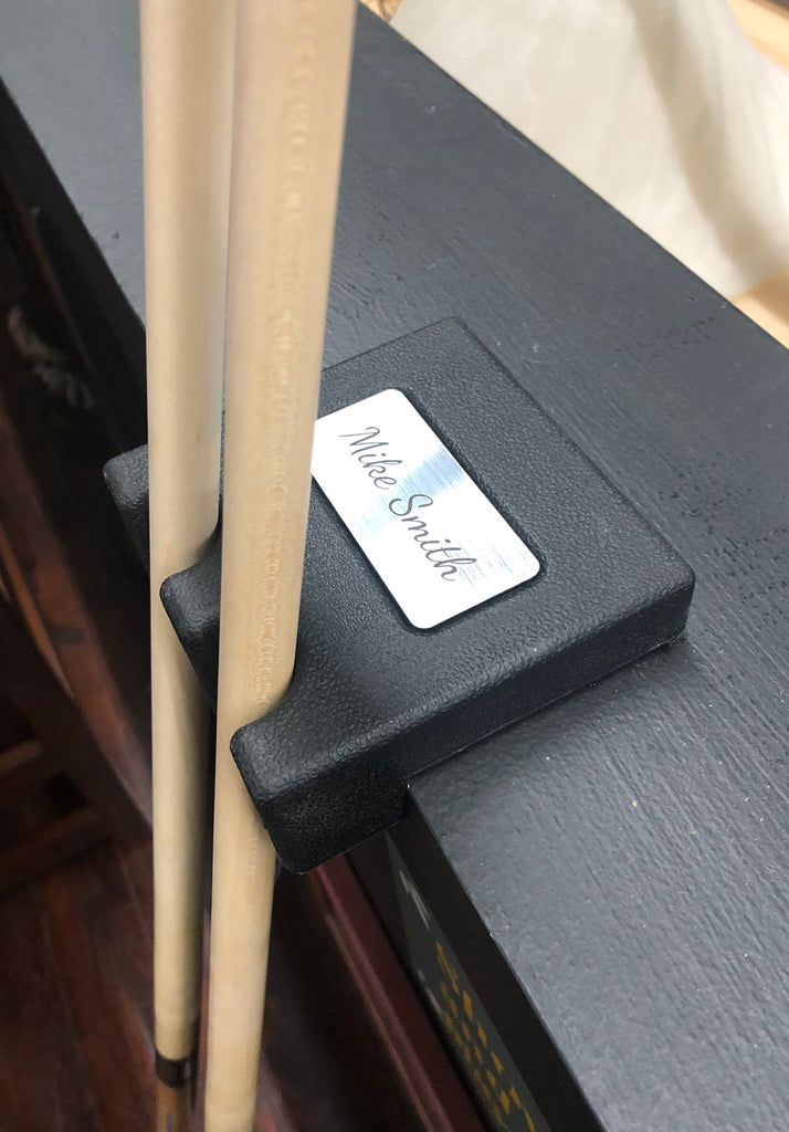 Custom Weighted Pool Cue Holder Rest for 2 Cues by Alex Austin