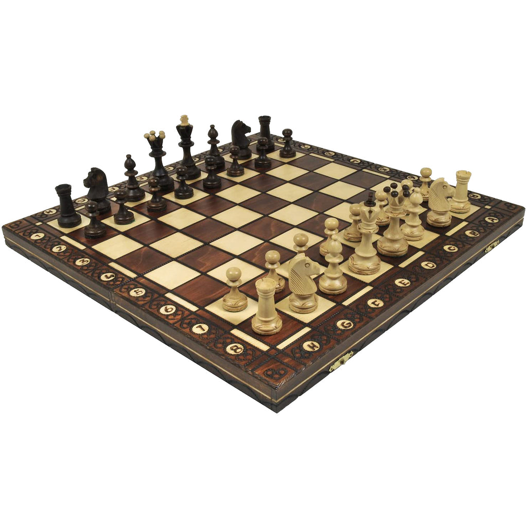 "16"" Wooden Chess Set"