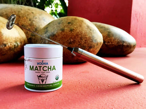 Electric Whisk + Ceremonial Grade Matcha (30g) - Yodha Matcha