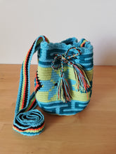 Load image into Gallery viewer, Authentic Handmade Mochilas Wayuu Bags - Small Turquoise 11